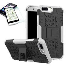 Hybrid Case Tasche Outdoor 2teilig Weiß für ONEPlus 5 Hülle + Hartglas Etui