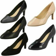 Ladies Clarks Calla Rose Textured Court Shoes