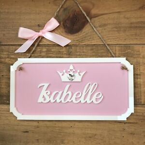 PERSONALISED NAME PLAQUE DOOR SIGN  PRINCESS WALL GIRLS BOYS KIDS CHILDRENS