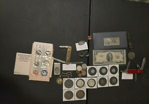 LARGE JUNK DRAWER LOT - RARE ANTIQUE & VINTAGE -- SILVER -- UNTESTED JEWELRY...