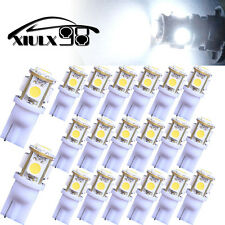 20X Super White T10 Wedge 5 SMD 5050 LED Light bulbs W5W 2825 158 192 168 194 US