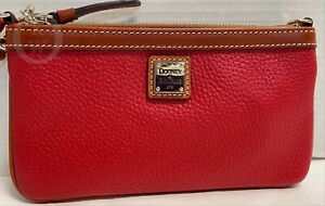 *NWT*Dooney & Bourke *Red Pebble Leather*Lg. Slim Wristlet*21088D S177