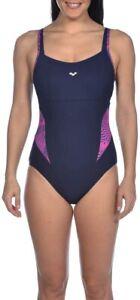 Arena women's body lift W Viola strap back swimsuit BNWT size 42 navy buy £25