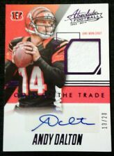 2014 Panini Absolute ANDY DALTON #13 Or #15/20! Autograph Jersey Purple SSP
