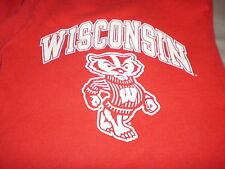 Wisconsin Badgers vintage red Champion sweatpants size small S Bucky