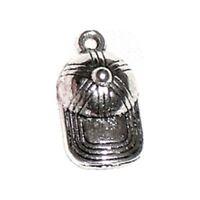 Breloques _ CASQUETTE CHAPEAU arg 19x10mm _ Perles charms création bijoux _ B044