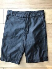 NEW H&M Black Faux Leather Shorts Size 8 High Waist W28 Party Festival Hotpant