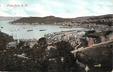 Scotland postcard Oban from S.W. panorama view ca 1906