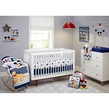 Mickey Mouse Crib Bedding Set Infant Nursery Comforter Sheet Toddler Bed Room