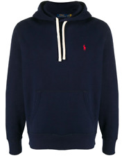 NEW GENUINE Polo Ralph Lauren embroidered logo hoodie - Navy RRP £135