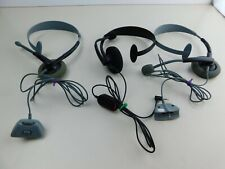 Lot of 3 Original Microsoft Xbox 360 Wired Headset -1 Has Volume+Mic Button