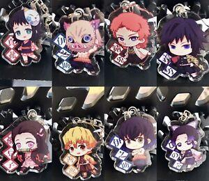 New Demon Slayer 9 Pcs Kimetsu no Yaiba Acrylic Keychain Double Side Acrylic