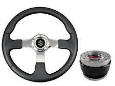 F2 CHROME Sports Steering Wheel + Quick Release boss B29 for SUZUKI