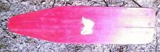 Childs Vintage Toy Ironing Board Wood Painted Red Retro Just Like Moms