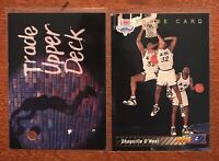 1992 Upper Deck Shaquille O'Neal #1a and 1b Basketball Cards Orlando Magic NBA