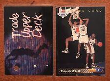1992 Upper Deck Shaquille O'Neal #1a and 1b Basketball Cards Orlando Magic NBA