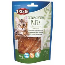 Trixie PREMIO Catnip & Chicken Breast Bites Cat Treats Real Meat, Resealable Bag