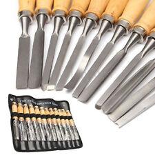 12 teilig Schnitzmesser Holzmeißel Beitel Holzschnitzerei Holzgriff