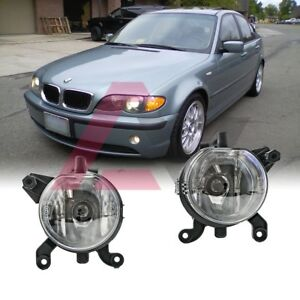 For BMW E46 99-03 Clear Lens Pair Bumper Fog Light Lamp OE Replacement DOT Bulb