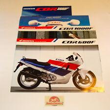 Collection de 4 Honda CBR600F CBR1000F SOLDES brochures. Original Honda Moto Co