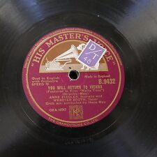 78rpm ANNE ZIEGLER you will return to vienna / land of mine