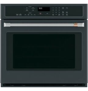 """GE Cafe 30"""" Matte Black Self Clean Convection Wall Oven--BRAND NEW!"""