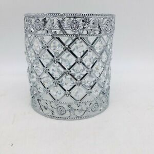 Home Decorative Bedside Nightstand Desk Light Crystal Silver Table Lamps Shade