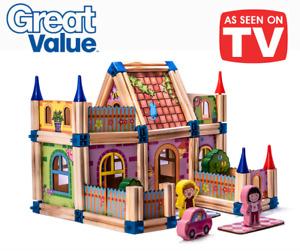 Building Blocks Set for Kids Montessori Inspired STEM toys NEW 2021 Real Wood