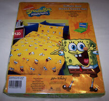 SpongeBob Squarepants Funny Faces Single Bed Yellow Printed Quilt Cover Set New