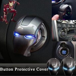 Iron Man Auto Motor Zündung Start Stop Druckknopf Schalter Knopf Abdeckung Trim