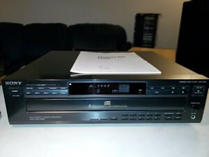 Vintage Sony 5 CD Disc Multi Player Home Stereo Audio CDP-C425  with Remote!!
