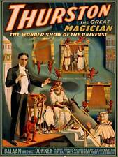THEATRE VAUDEVILLE ILLUSION MAGIC THURSTON USA VINTAGE ADVERTISING POSTER 2212PY