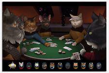 Star Trek Cats Playing Poker Official Maxi Poster New