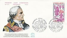 France 1980 FDC Anniversary a Newport of Troops of Marquis of Rochamb Yt