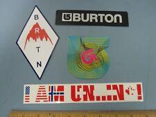 BURTON snowboards Classic 4 Sticker Set UNINC New Old Stock Mint Condition