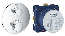Grohe Grohtherm 1 Mezclador de Ducha Termostático de manera Redondo Ajuste + Inteligente Rapido Válvula