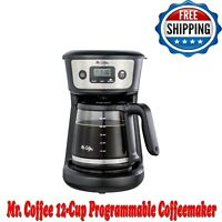 Mr. Coffee 12-Cup Programmable Coffeemaker, Strong Brew Selector Stainless Steel