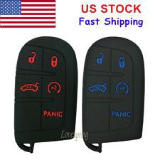 2Pcs Key Fob Cover Case Keyless Entry Bag for Jeep Grand Cherokee Dodge Chrysler