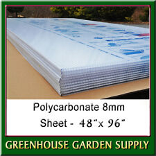 "Polycarbonate Greenhouse Cover 8mm - Clear 48"""" x 96""  (Pak Of 10)"