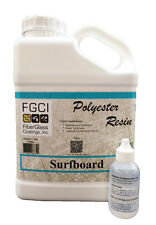 FGCI Polyester Clear Surfboard Resin, 1 Gallon Kit w/2 oz. MEKP Catalyst 137926