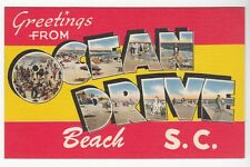 [51601] LARGE LETTER POSTCARD GREETINGS FROM OCEAN DRIVE BEACH, SOUTH CAROLINA
