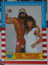 Macho Man Randy Savage & Miss Elizabeth WWF WWE 1987 Topps Card #7 Wrestlemania