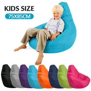 Waterproof Bean Bag Chair Cover Indoor Outdoor Lazy Gamer Beanbag Seat Kid NEW