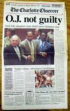 1995 & 1997 hdlne newspapers OJ SIMPSON NOT GUILTY of MURDER &Later FOUND GUILTY