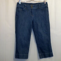 "New York & Company Capri Jeans Women's Size 6 Blue 19 1/2"" Inseam"