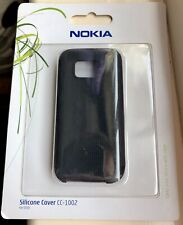 NEW Genuine Nokia 5530 Soft Flexible Silicone Skin Cover, Black, Sealed, CC-1002