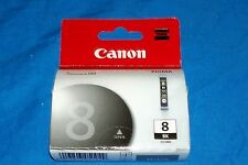 Genuine Canon Pixma Black Ink 8 BK CLI-8BK 13ml Printer Chromalife 100 Cartridge