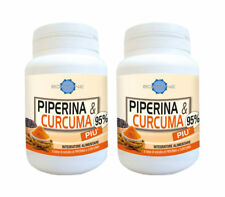 PIPERINA e CURCUMA 95% integratore SPECIFICO DIMAGRANTE 120cap prodotto italiano