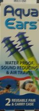 AQUA EARS, WATER PROOF, SOUND REDUCING AND AIR TRAVEL