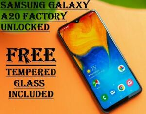 Samsung Galaxy A20 4G LTE 32GB Smartphone Factory Unlocked T-Mobile AT&T GSM